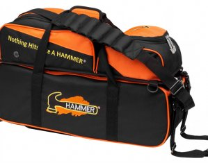 Hammer Triple Tote 3 Ball Bowling Bag with Removable Pouch